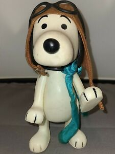 Peanuts Snoopy Aviator Pilot Flying Ace Red Baron Figure 1966 - Vintage