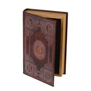 9973039 Schachtel Schatulle Box Buch Dekor Antik 26x5x17cm