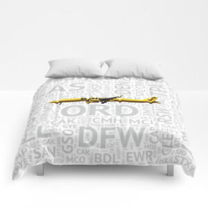 Spirit Airlines Airbus A321 with Airport Codes - Queen Size Comforter