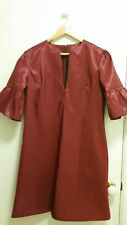 NEW Burgundy bell sleeve shift dress, size 12-14