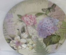 Floral Pink Lavender Butterfly Spring Summer Charger Chargers Plates Set of 4