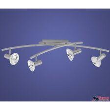 Barra 4 proyectores Eglo Strike 89747 ajustable Lámpara techo de cromado