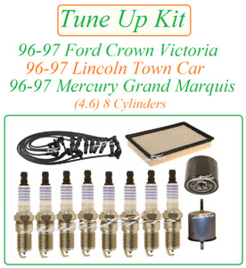 Tune Up for 96-97 Ford Crown Victoria 4.6v8: Spark Plug Wire Set Air Fuel Oil