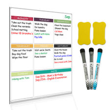 """Magnetic Dry Erase Whiteboard 16""""X11.4"""" for Fridge with 3 Markers and 2 Erasers"""