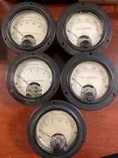 Vtg Weston Electrical Instrument Gauge Meter Model 301 MILLIAMMETER -Lot Of 6