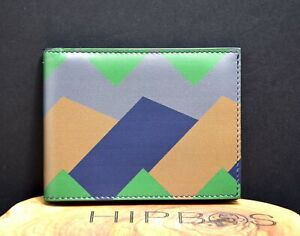 Salvatore Ferragamo Mens Leather Bifold Wallet With Limited Edition Print