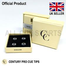 Century Pro Cue Tips - G1 (Soft) G2 (Medium) G3 (Medium/Hard) G4 (Hard) Snooker