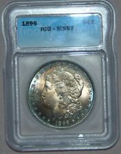 1896 Morgan Silver Dollar ~ ICG MS67, RARE HIGH GRADE - WOW! GREAT TONING!
