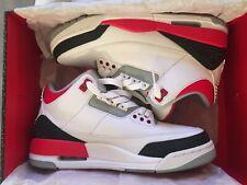 Air Jordan 3 Retro Fire Red Cement 2013 Size US8
