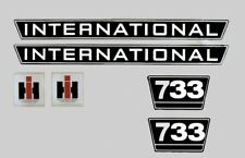 IHC Mc Cormick Traktor Aufkleber international 733 Emblem Sticker Label Set