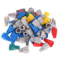 100 Pcs Mixed Color CAT5E CAT6 RJ45 Cable Strain Relief Boots Cable Plug Co HF