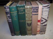 Lot of 7 African Safari Hunting Books Big Game