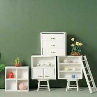 1/12 Dolls House Miniature Bedroom Kitchen Living Room Set Cabinet Bed