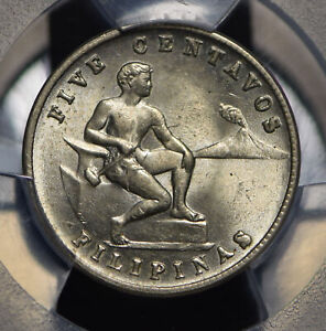 Philippines 1944 S 5 Centavos PCGS MS64 PC0457 combine shipping