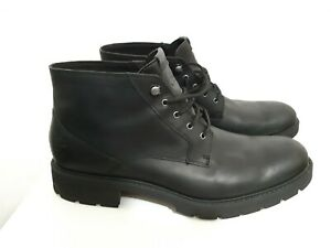 Timberland Men's Elmhurst Waterproof Black Leather Chukka Boots A24P4 US SIZE 12