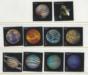 US Sc# 5069-76 5077-8 VIEWS OF OUR PLANETS & PLUTO SETS USED OFF PAPER SOUND