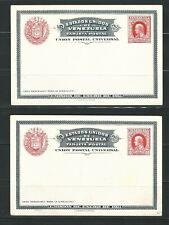 Venezuela: 1911- 2 postal stationery, with drawing on the back. VE1098*