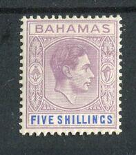 Bahamas KGVI 1938-52 5s lilac & blue SG156 MLH