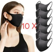 Face Mask Reusable Non Medical Cover 10 PIECES Black