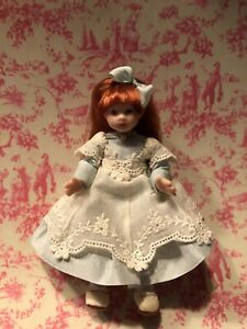 Miniature Dollhouse Little Girl- Porcelain- jointed- 3 1/2 ""