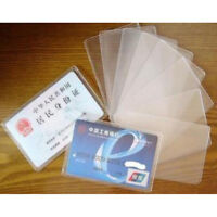 40X PVC Credit Card Holder Protect ID Card Business Card Cover Clear Frosted Lot