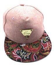 HATER gold triangle badge - pink / patterned brim adjustable cap / hat - brand