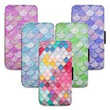 Mermaid Scales Tiles Flip Phone Case Cover Wallet - Fits Iphone 5 6 7 8 X 11