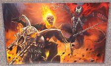 Ghost Rider vs Spawn Glossy Art Print 11 x 17 In Hard Plastic Sleeve