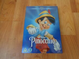 DISNEY CLASSICS NUMBER 2 PINOCCHIO DVD LIMITED EDITION O RING SLEEVE