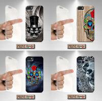 Cover per,Iphone,TESCHIO,silicone,morbido,messicano,skull,effetto legno,custodia