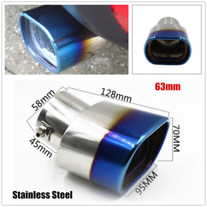 63mm Stainless Steel Car Exhaust Tail Rear Muffler Pipes Plating Fit for Toyota