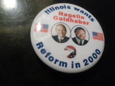 Illinois Reform Party President Campaign Pin Back Button Hagelin Presidential