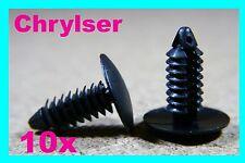 10 Pare-chocs Voiture en plastique Boot Radiateur Yorke Bouclier Fastener Clip Chrysler