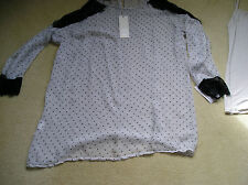 BNWT Designer Ambra silk blend top with cami 1X 18 44 made in Italy Free P&P UK