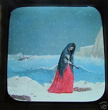 Glass Magic lantern slide A TERRIBLE CHRISTMAS EVE NO.13 C1890 VICTORIAN TALE