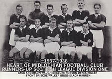 HEARTS FOOTBALL TEAM PHOTO>1937-38 SEASON