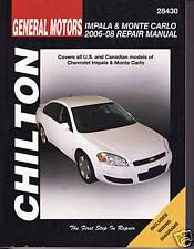 2006-2008 Chilton GM Impala & Monte Carlo Repair Manual