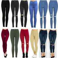 NEW LADIES COLOURED SKINNY JEANS STRETCH WOMENS JEGGINGS TROUSERS