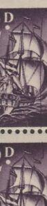 South Africa 1952 ERROR VARIETY Line through sails (R. 11/2) sg138b