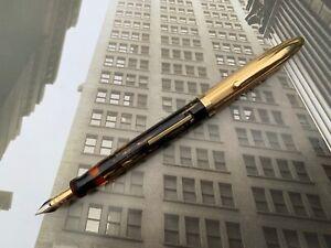Vintage 1930s American Art Deco SHEAFFER Lifetime 1st Year CREST Fountain pen