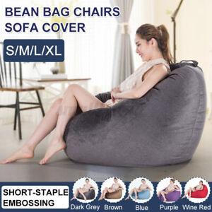 S/M/L/XL Bean Bag Sofa Chair Cover Gaming Chair Beanbag Indoor &Outdoo