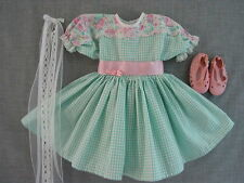3106 Doll Dreams fit American girl Samantha Mint Dress, White Shoes, Ribbons