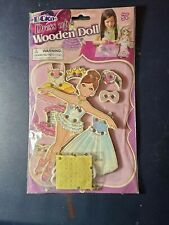 Pockos Dress Up Wooden Doll Ballerina NEW IN PACKAGE 9 Piece Set