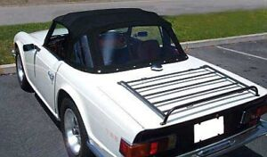 New Black Convertible Top Triumph TR6 W Zip Out Window Robbins Brand Made USA