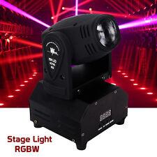 10W RGBW LED Moving Head Light Mini Beam Stage Party Lighting DMX DJ KTV Club US