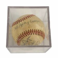 Vintage Korean War 3rd Army Champs Team Signed Autographed Baseball RARE 1950s