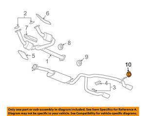 Chevrolet GM OEM 03-06 SSR Exhaust-Muffler W/tpipe Insulator 10429800