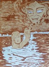 Dr.LAKRA Woman & Demon(Jeronimo Lopez Ramirez)  HAND SIGNED Litho Mexican Artist
