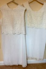 New listing Vintage Ladies Slips Youth Form Nylon Sizes 40 & 36 Scoop & High Neck Top Blouse