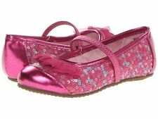 New Stride Rite Shoes Baby Quinn Pink Sequin Ruffle 6.5 M